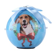 Blue Twinkling Lights Christmas Tree  Ball Ornament home decor Dog Puppy, Beagle (ORNDOG401)