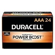 Duracell Coppertop AAA Alkaline Batteries, 24/Pack (MN2400BKD)