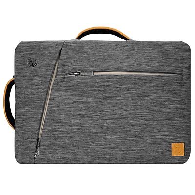 """Gray Laptop Backpack Messenger Bag Crossbody for Notebook 17.3"""" 16"""" (LAPLEA042)"""