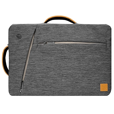 Gray Laptop Backpack Messenger Bag Crossbody for Notebook 17.3