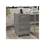 "Bush Business Furniture Hybrid 2-Drawer Mobile File Cabinet, Letter/Legal, Platinum Gray, 20"", (HYF116PGSU-Z)"