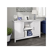 """Bush Furniture Key West 30"""" Accent Cabinet with Doors and 4 Shelves, Pure White Oak (KWS146WT-03)"""