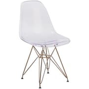 Flash Furniture Ghost Chair Gold Base (FH130CPC1)