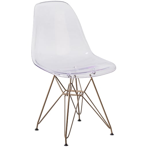 Flash Furniture Elon Series Clear Plastic Ghost Chair (FH130CPC1)