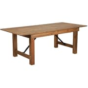 "Flash Furniture 7'x40"" Folding Farm Table Pine Wood (XAF84X40)"