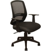 Advantage Black Mesh Office Chairs Contoured Black Padded Seat (KB-2012-BLK)
