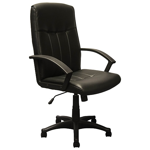 Advantage High Back Black Leather Executive Office Chair Kb 3001 Rollover Image To Zoom In Https Www Staples 3p S7 Is
