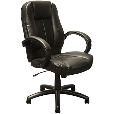 Advantage Extended Mid-back Black Leather Executive Office Chairs (KB-9602B)