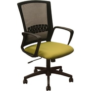 Advantage Black Mesh Office Chairs Green Padded Seat (KB-8929-GRN)