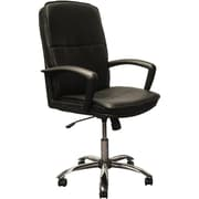 Advantage High Back Black Leather Executive Office Chair Chrome Base (KB-3003)