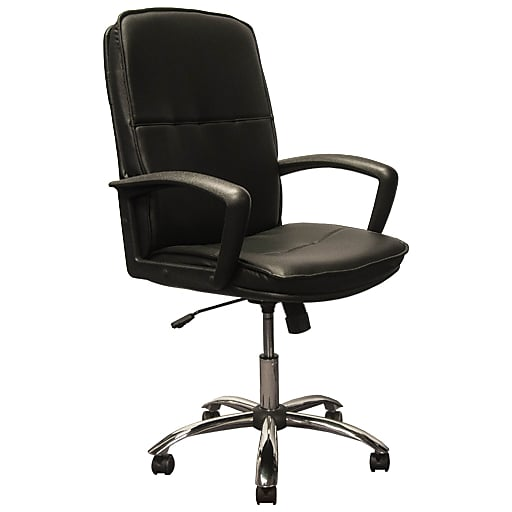 100% authentic df048 6fbde Advantage High Back Black Leather Executive Office Chair Chrome Base  (KB-3003)