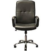 Advantage High Back Black Leather Executive Office Chair Chrome Base (KB-3003)