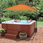 Blue Wave Splashnet Xpress Santiago 10-ft Octagonal Cantilever Spa Side Umbrella in Terra Cotta Olefin (NP5808)