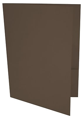 LUX 9 x 12 Presentation Folders 100/Pack, Chocolate (LUX-PF-17-100)