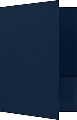 LUX 9 x 12 Presentation Folders 25/Pack, Dark Blue Linen (PF-DBLI-25)