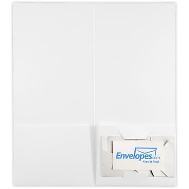 LUX 4 x 9 Pocket Folders 25/Pack, White Linen (49F-WLI-25)