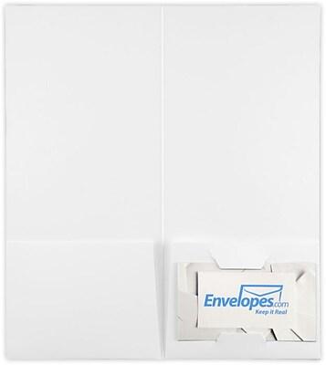 LUX 4 x 9 Mini Folders, Two Pockets, 100lb. White, 25/Pack (49F-W-25)