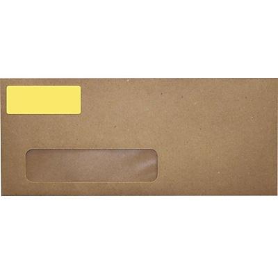 LUX 2.625 x 1 Standard Address Labels, 30 Per Sheet (10/Pack), Pastel Yellow (16PY-10)