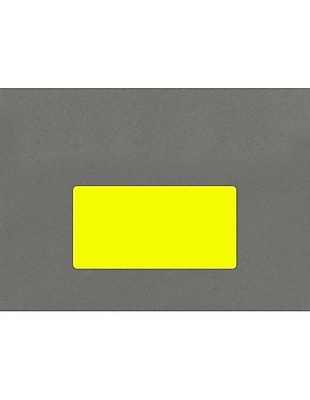 LUX 4 x 2 Rectangle Labels, 10 Per Sheet (10/Pack), Fluorescent Yellow (46FY-10)