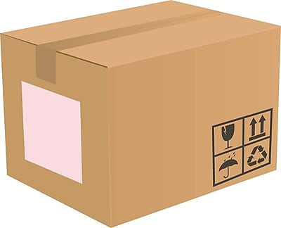 LUX 8.5 x 11 Full Sheet Rectangle Labels, 1 Per Sheet (50/Pack), Pastel Pink (133PP-50)