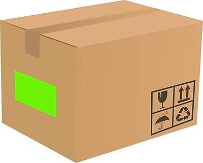 LUX 8.5 x 5.5 Half Sheet Rectangle Labels, 2 Per Sheet (100/Pack), Fluorescent Green (160FG-100)