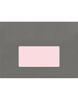 LUX 4 x 2 Rectangle Labels, 10 Per Sheet (50/Pack), Pastel Pink (46PP-50)