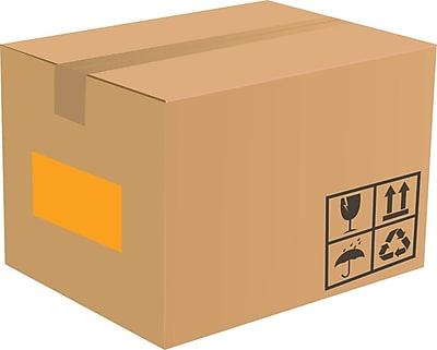 LUX 8.5 x 5.5 Half Sheet Rectangle Labels, 2 Per Sheet (500/Pack), Fluorescent Orange (160FO-500)