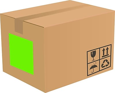 LUX 8.5 x 11 Full Sheet Rectangle Labels, 1 Per Sheet (500/Pack), Fluorescent Green (133FG-500)