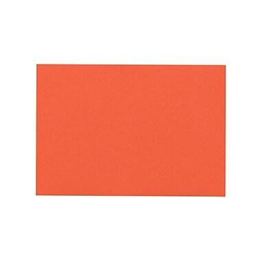 LUX A7 Flat Card (5 1/8 x 7) 50/Pack, Tangerine (4040-112-50)