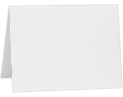 LUX A1 Folded Card (3 1/2 x 4 7/8) 50/Pack, 80lb. Bright White (A1FW-50)