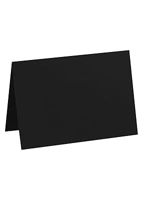 LUX A7 Folded Card (5 1/8 x 7) 50/Pack, Black Linen (5040-BLI-50)