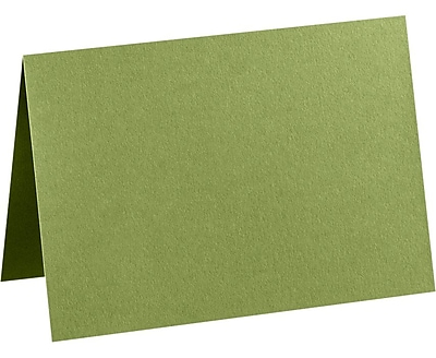 LUX A2 Folded Card (4 1/4 x 5 1/2) 50/Pack, Avocado (EX5020-27-50)