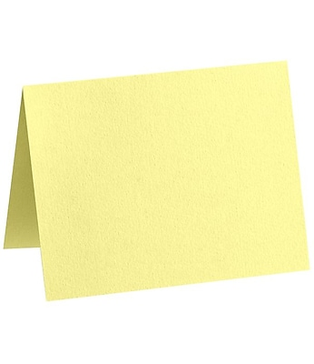LUX A7 Folded Card (5 1/8 x 7 ) 50/Pack, Lemonade (EX5040-15-50)