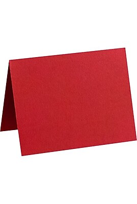 LUX A2 Folded Card (4 1/4 x 5 1/2) 50/Pack, Ruby Red (EX5020-18-50)