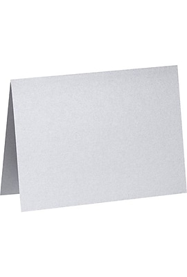 LUX A2 Folded Card (4 1/4 x 5 1/2) 50/Pack, Silver Metallic (PGCST909-50)