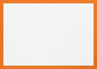 LUX A1 Border Flat Card (3 1/2 x 4 7/8) 50/Pack, Mandarin Border (BC4010-11-50)