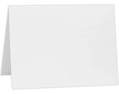 LUX A6 Folded Card (4 5/8 x 6 1/4) 50/Pack, 80lb. Bright White (A6FW-50)