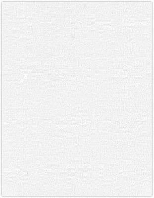 LUX 8 1/2 x 11 Paper 50/Pack, White Canvas (5040-BLI-50)