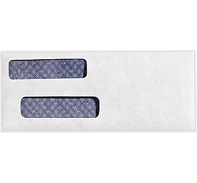 LUX Check Double Window Envelopes 250/Pack, 24lb. Bright White (57633-250)