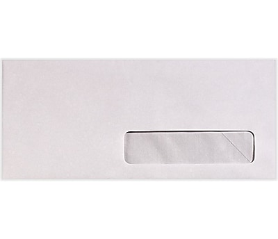 LUX #10 Right Side Window Envelopes (4 1/8 x 9 1/2) 500/Pack, 24lb. Bright White (82624-500)