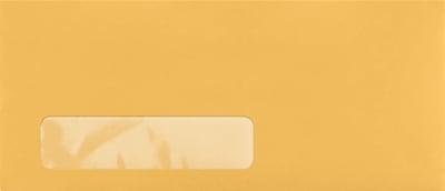 LUX #10 Window Envelopes (4 1/8 x 9 1/2) 50/Pack, 24lb. Brown Kraft (97767-50)