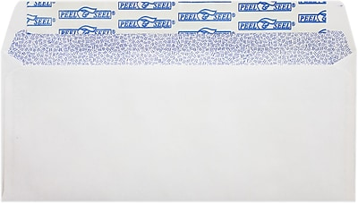 LUX #10 Regular Envelopes (4 1/8 x 9 1/2) 50/Pack, White w/ Sec Tint, P&S (75747-50)
