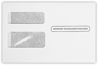 LUX W-2 / 1099 Envelopes (5 3/4 x 8 7/8) 1000/Pack, 24lb. White w/ Security Tint (7486-W2-1000)
