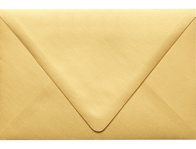 LUX 6 x 9 Booklet Contour Flap Envelopes 50/Pack, Gold Metallic (1820-07-50)