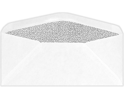 LUX #9 Regular Envelopes (3 7/8 x 8 7/8) 500/Pack, White w/Security Tint (61538-500)