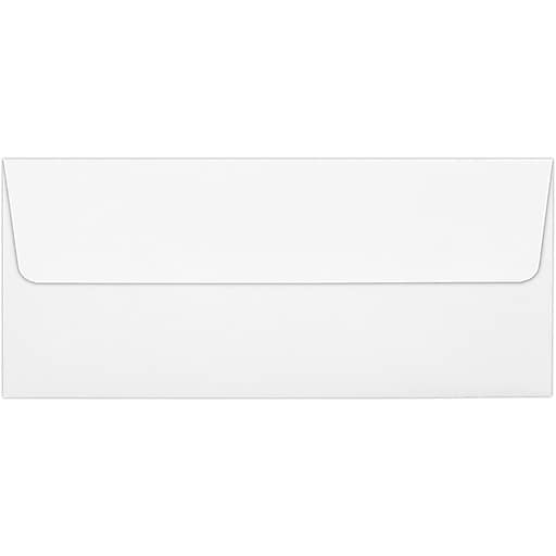 LUX #10 Square Flap Envelopes (4 1/8 x 9 1/2) 50/Pack, White - 100% Recycled (4860-WPC-50)