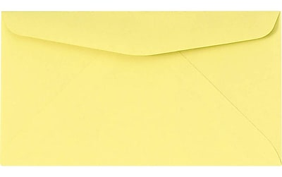 LUX #6 3/4 Regular Envelopes (3 5/8 x 6 1/2) 1000/Pack, Pastel Canary (726781-1000)