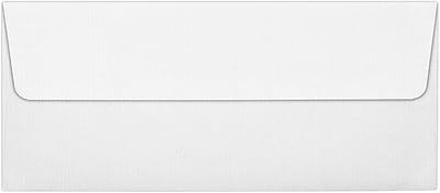 LUX #10 Square Flap Envelopes (4 1/8 x 9 1/2) 50/Pack, White Linen (4860-WLI-50)