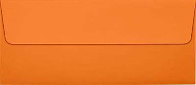 LUX #10 Square Flap Envelopes (4 1/8 x 9 1/2) 50/Pack, Mandarin (EX4860-11-50)
