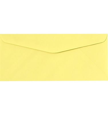 LUX #9 Regular Envelopes (3 7/8 x 8 7/8) 1000/Pack, Pastel Canary (73056-1000)